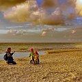 Złote chwile #morze #plaża #piasek #złoto