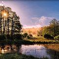 Mgła i światło. #d3100 #drzewa #gwda #las #mgła #motylewo #niebo #nikon #odbicie #poranek #rzeka #świt #wieś #woda