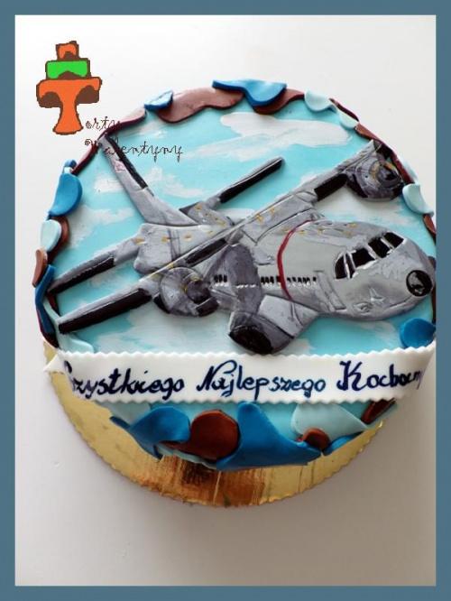 Tort samolot wojskowy CASA #SamolotWojskowyCasa #tort #TortyKraków #TortyWalentynki