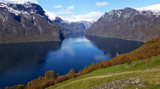 -Norwegia-Aurland jesienią
