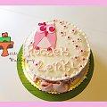 Tort na roczek z sówką #DlaDziesczynki #roczek #sowa #sówka #tort