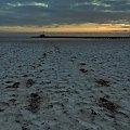 Jeden taki jesienny przedświt #Sopot #morze #molo #zatoka #przedświt