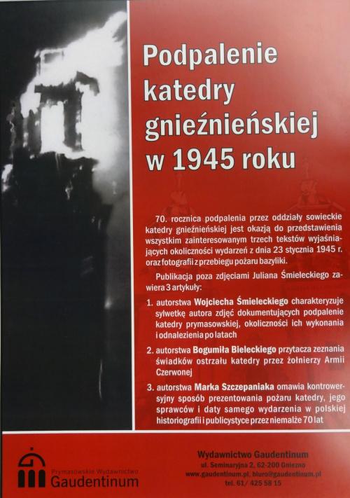 Podpalenie katedry 21.01.1945 Ostrzał katedry przez czołgi radzieckie