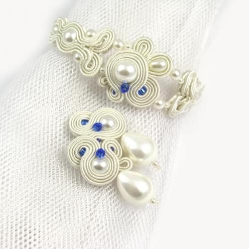 Niebieska biżuteria ślubna
