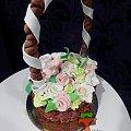 Tort Kosz z Kwiatami #KoszZKwiatami #tort #TortyKraków #TortyWalentynki