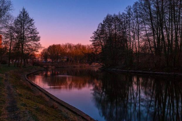 Rzeka Gwda #Piła #Rzeka #WschódSłońca