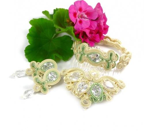 Komplet biżuterii ślubnej sutasz