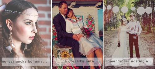 Śluby tematyczne: folk, boho, vintage.